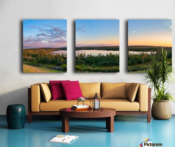 French Lake Sunset Split Canvas print