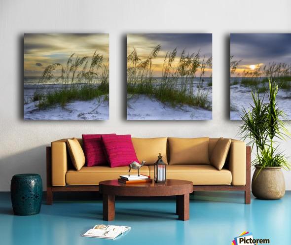 Sunset over Holmes Beach Split Canvas print