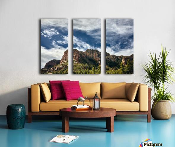Southwest Sky Split Canvas print