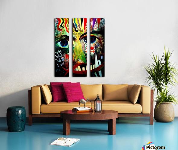 Expressionism 2 Split Canvas print