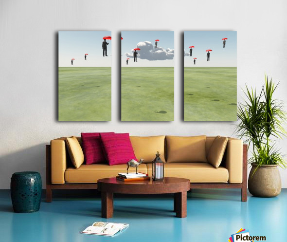 Surreal Floating Men Split Canvas print