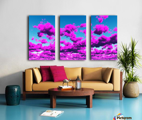 Vivid Purple Cloudscape Split Canvas print