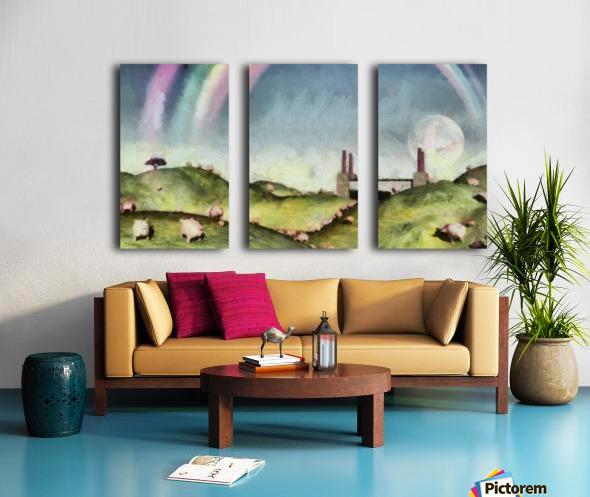 Under the rainbow Split Canvas print