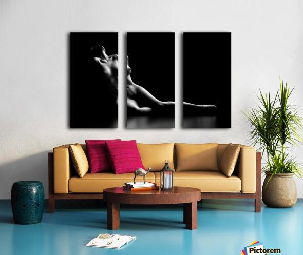 Nude woman bodyscape Split Canvas print