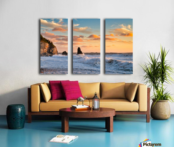 Tangerine Skies Split Canvas print