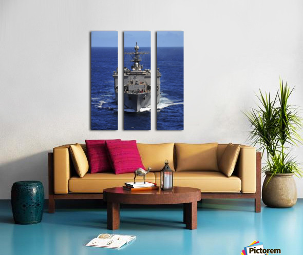USS Comstock transits the Indian Ocean. Split Canvas print