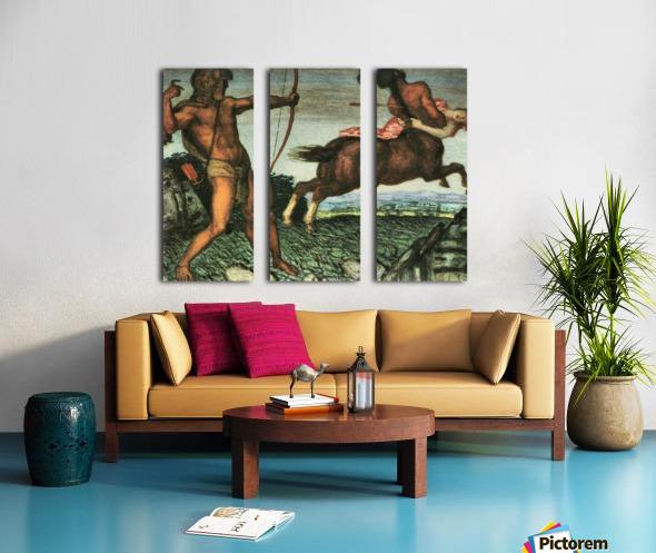 Hercules and Nessus by Franz von Stuck Split Canvas print