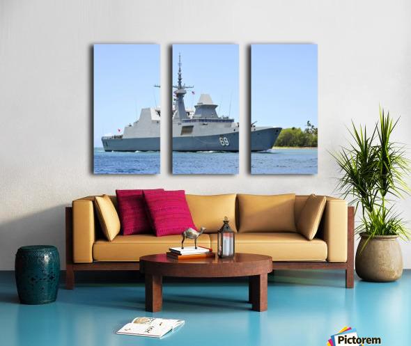 The Singapore frigate RSS Intrepid. Split Canvas print