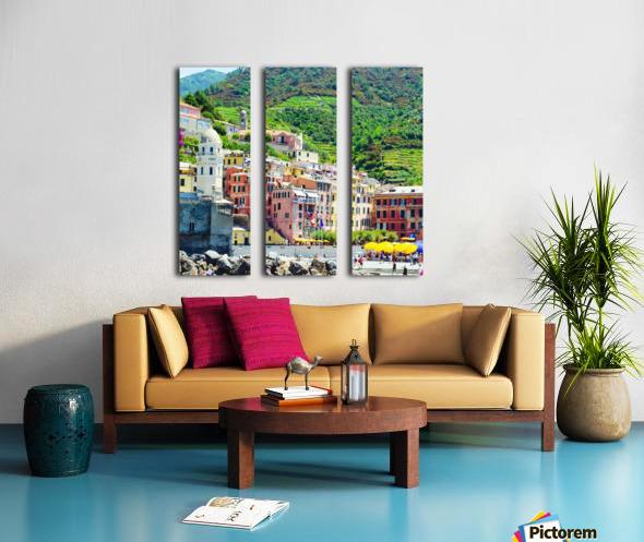 Colorful village of Cinque Terre Split Canvas print