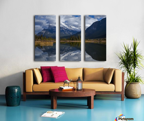Mt. Rundle mirrors Split Canvas print