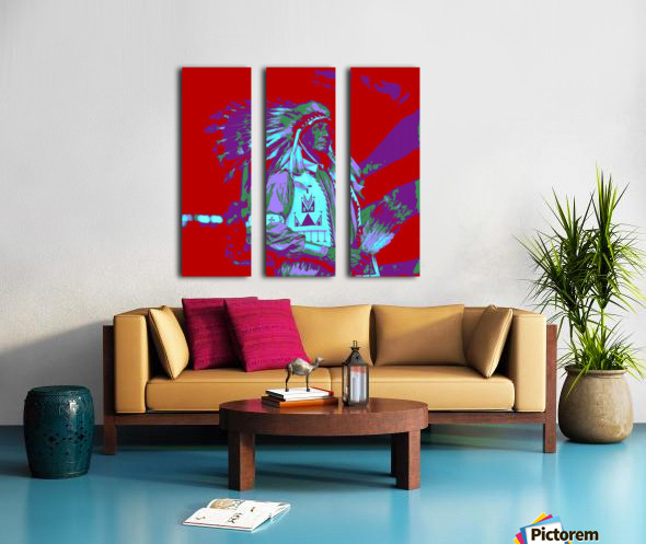 Indian Chief Pop Art Split Canvas print