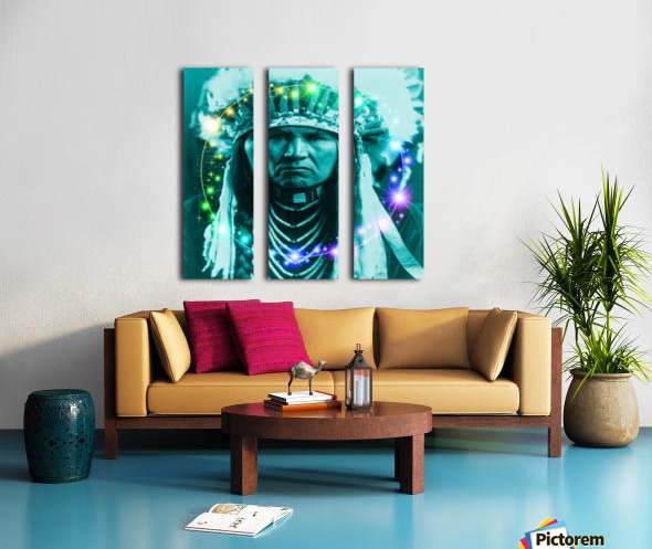 Magical Indian Chief Split Canvas print