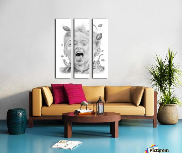 Tomatowen Split Canvas print