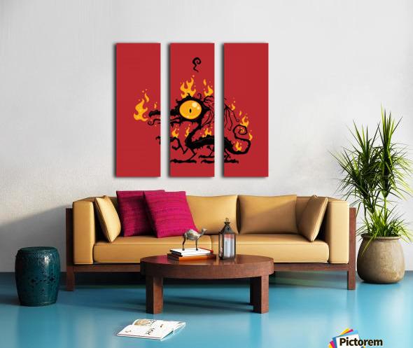 Backfire Split Canvas print