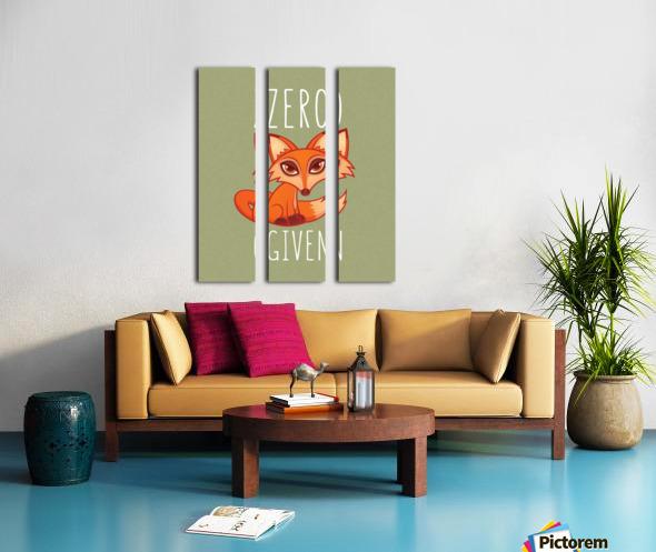 Zero Fox Given Split Canvas print