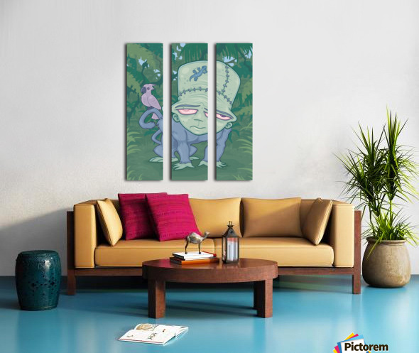 Frunkee Split Canvas print