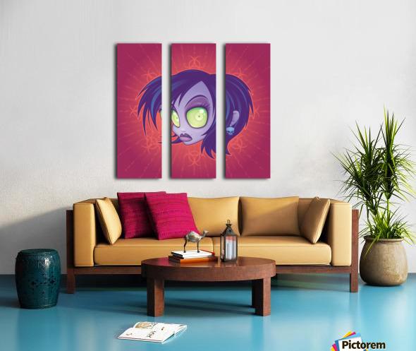 Living Dead Girl Split Canvas print
