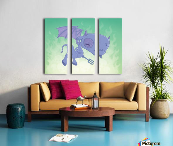 Pitchy Split Canvas print
