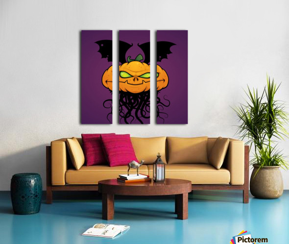 Punkin Monsta Split Canvas print