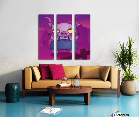 Zombie Pig Split Canvas print