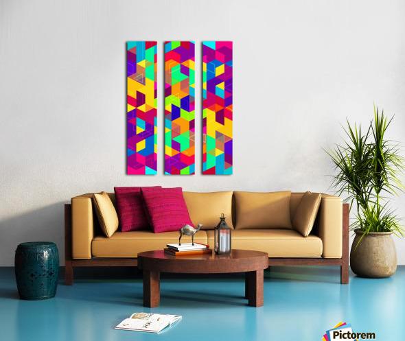Vivid Pattern I Split Canvas print