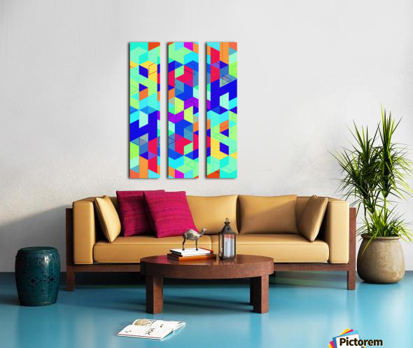 Pattern LXXIX Split Canvas print
