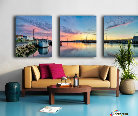 La Digue Twilight Split Canvas print