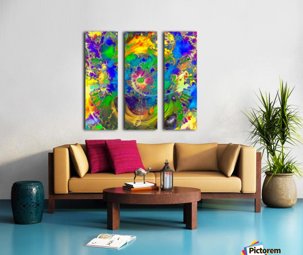 Summer Colors Split Canvas print