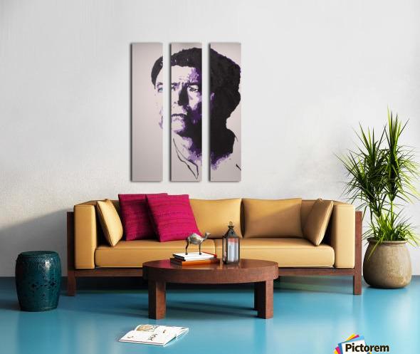 2014 Sad Bowie Split Canvas print