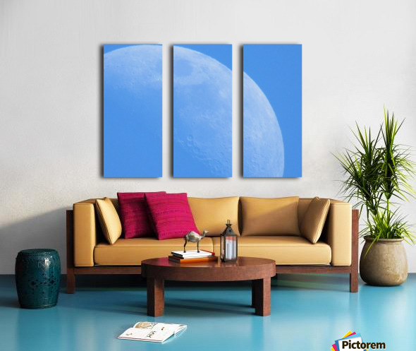 Daytime Moon Split Canvas print