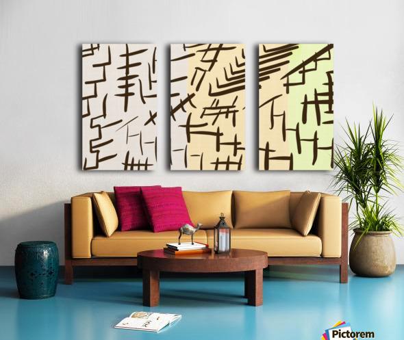 Chinesque Split Canvas print