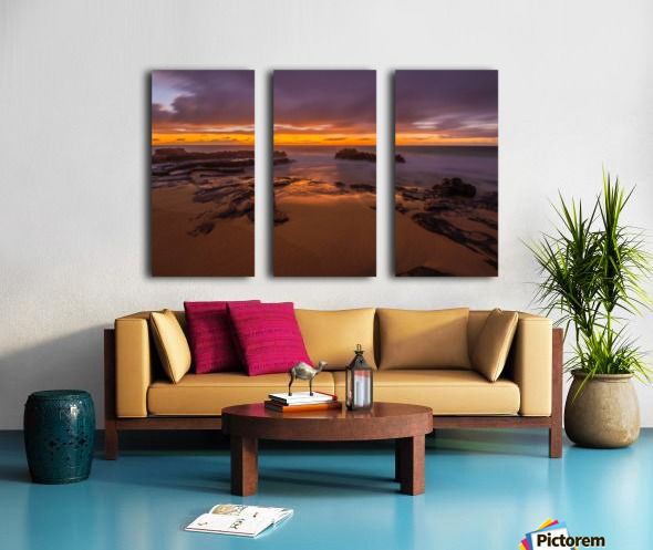 soft water Oahu Hawaii Split Canvas print
