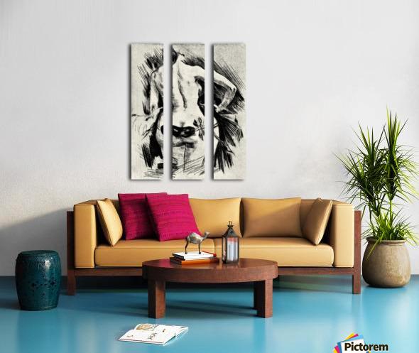Hypocracy by Felicien Rops Split Canvas print