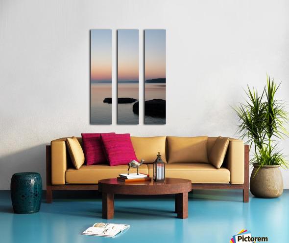 Huron Sunrise 2 Split Canvas print