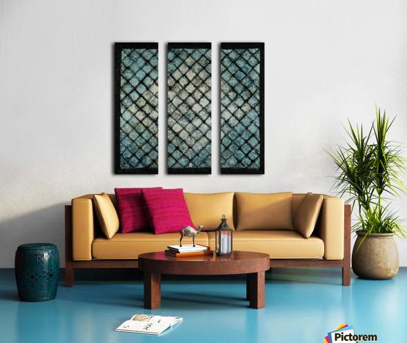 Les bleus vitraux -  Contemporary Art Toile Multi-Panneaux