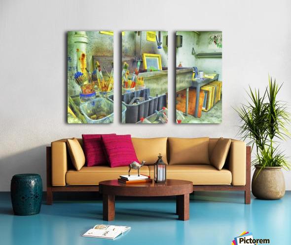 Paintbrushes Split Canvas print
