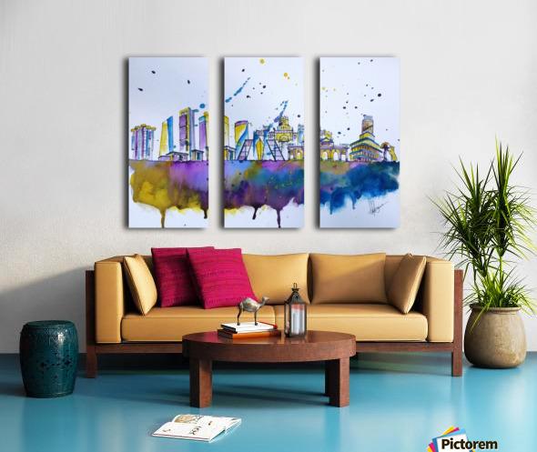 Madrid Split Canvas print