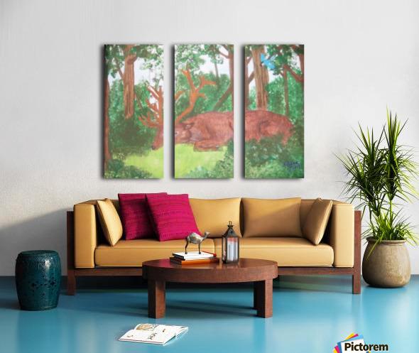 Maine Elk Split Canvas print