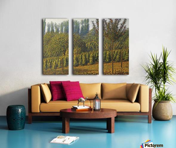 Haystacks Split Canvas print