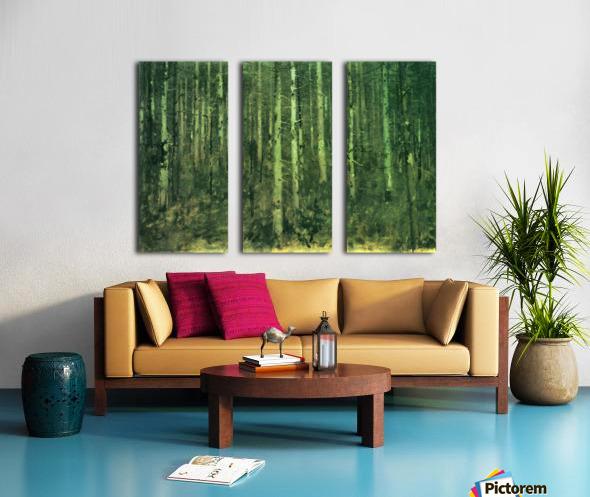 In the forest by Albin Egger-Lienz Split Canvas print