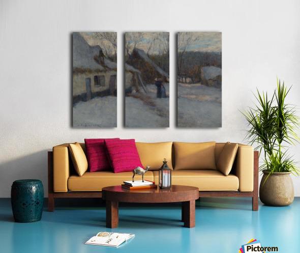 Snowy Landscape, Etaples Split Canvas print