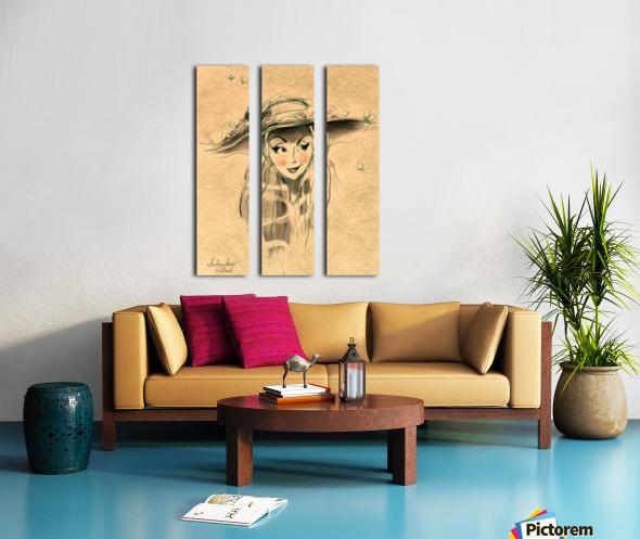 Madame Split Canvas print