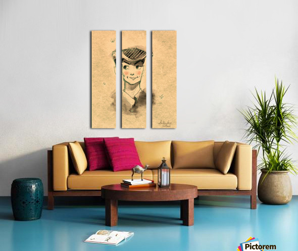 Monsieur Split Canvas print