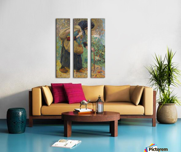 Old Peasant Woman Split Canvas print