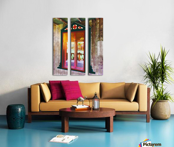 The Hedges Adirondack Window Split Canvas print