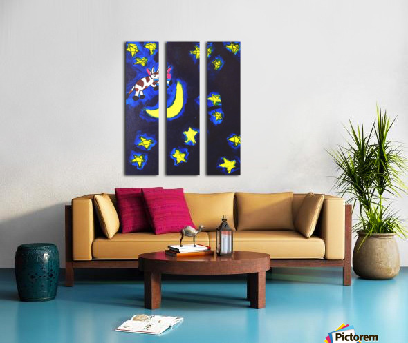 Cow Jumped over the Moon. Dominic H Split Canvas print