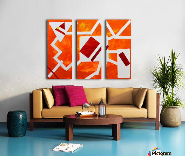 Geometric Orange. Jessica B Split Canvas print