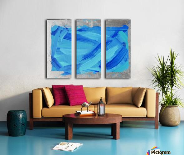 Blue. Walker W. Split Canvas print