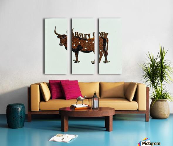 Holy Cow. Stephen R Split Canvas print