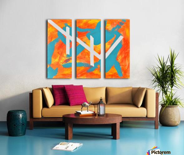 Fire and Water. Joe C Split Canvas print